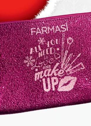 Симпатичная розовая косметичка  фармаси all you need is love a...