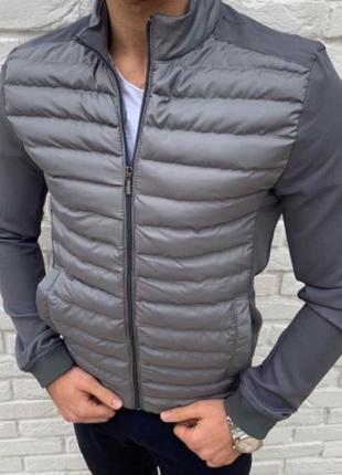 Куртка мужская стеганая серая турция / курточка чоловіча сіра...