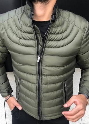 Куртка мужская стеганая хаки турция / курточка чоловіча хакі...