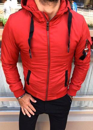 Куртка мужская демисезонная красная турция / курточка чоловіча...