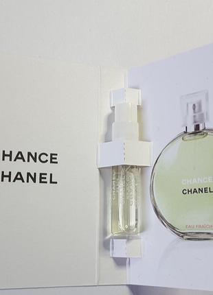 Пробник chanel chance eau fraiche туалетной воды, 1,5 мл, франция