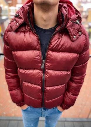 Куртка мужская стеганая бордовая турция / курточка чоловіча бо...