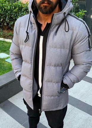 Куртка мужская стеганая серая турция / курточка чоловіча сіра ...