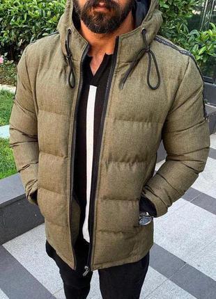 Куртка мужская стеганая хаки турция / курточка чоловіча хакі с...
