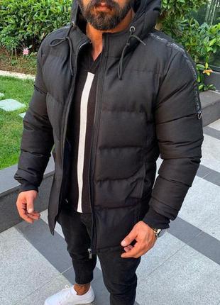 Куртка мужская стеганая черная турция / курточка чоловіча чорн...