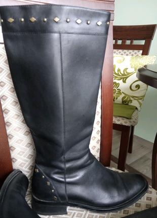 Сапожки кожаные размер 40