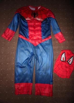 Новогодний костюм человек паук tu 3-4 года