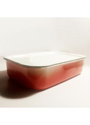 Судок/лоток металевий емальований харчовий СРСР