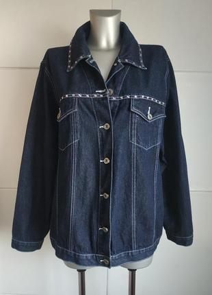 Джинсовая куртка большой размер