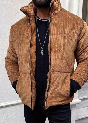 Куртка мужская стеганая коричневая турция / курточка чоловіча ...