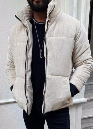 Куртка мужская стеганая белая турция / курточка чоловіча стьоб...