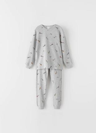 Пижама zara 6-7, 11-12 лет для мальчика