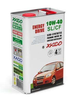 Моторное масло ХАДО (XADO Atomic Oil 10W-40 SL/CF 4л)