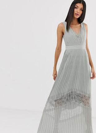 Вечернее плиссированное  платье  в пол little mistress шикарно...