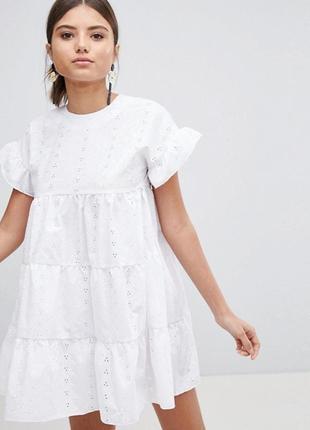 Ликвидация товара 🔥  мини платье из прошвы