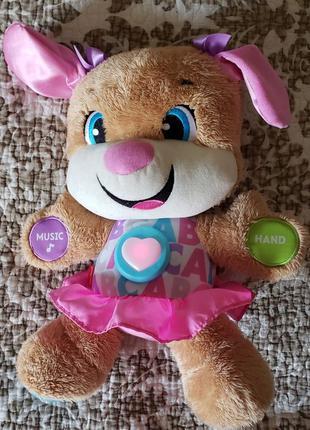 2 игрушки Fisher price сестричка умного щенка интерактивная ан...