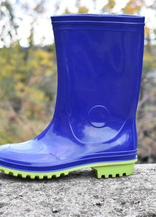 Канада резиновые сапоги синие новые на осень   размер 35