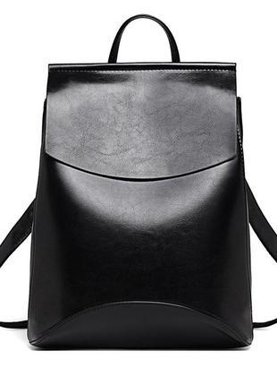 Рюкзак сумка женский городской стильный. трансформер черный