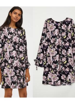 Цветастое прямое платье hm