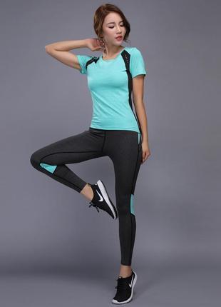 Спортивный костюм женский для фитнеса, спорта, бега, йоги