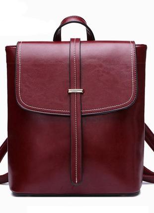 Рюкзак сумка трансформер женский из экокожи с пряжкой