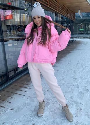 Зимняя теплая куртка пуховик плащевка канада + силикон 300 + п...