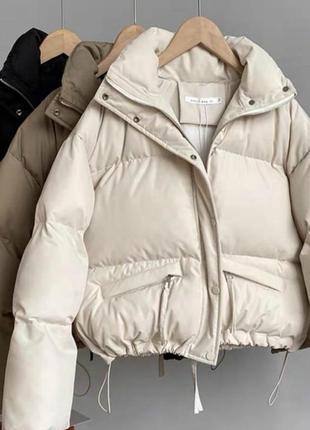 Теплая зимняя куртка плащевка канада + силикон 250 + подкладка
