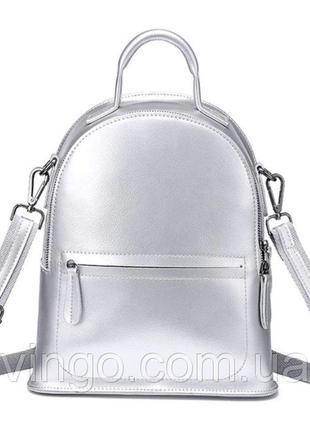 Рюкзак сумка (трансформер) женский городской кожаный