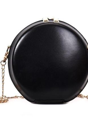 Сумка женская круглая. сумочка круглой формы