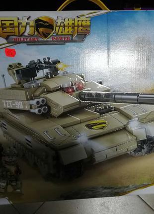 Конструктор Kazi 84081 Военный Танк TZT-99 671 деталей Аналог ...