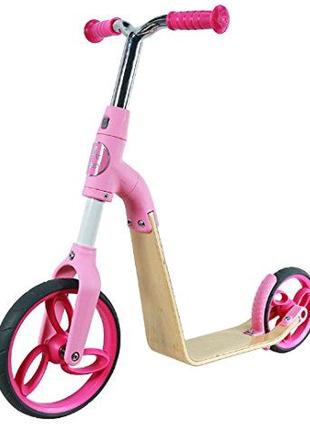 Біговел-самокат AEST B01 2 в 1 рожевий для дівчаток найкращий