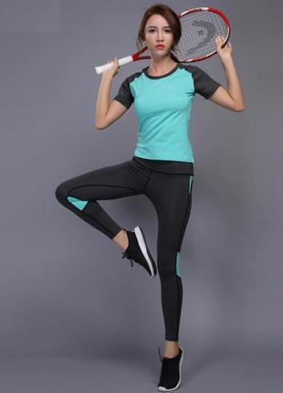 Костюм спортивный женский для фитнеса, спорта, бега, йоги.
