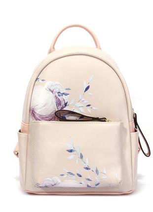 Рюкзак городской женский с цветами, цветочным принтом