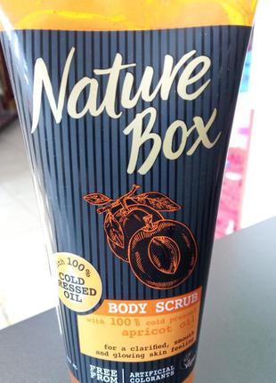 Nature box натуральный скраб для тела масло абрикоса