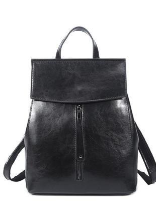 Рюкзак сумка (трансформер) женский городской стильный черный