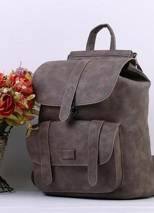 Рюкзак сумка трансформер женский городской стильный коричневый...