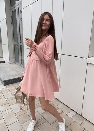 Воздушное платье с креп шифон