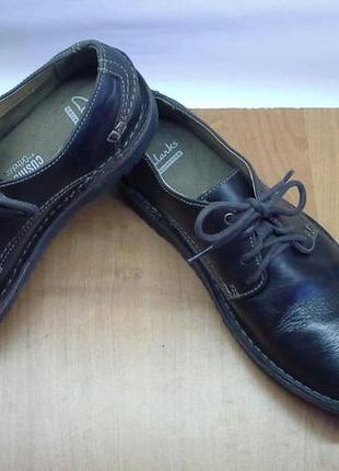 Супер классные мужские туфли на шнурках clarks- натуральная ко...