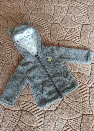 Демисезонная куртка 1-1,5 года.тëплая.куртка-кофта.куртка капю...