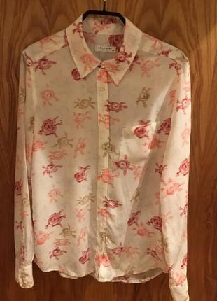 Блузка в цветочный принт equipment femme