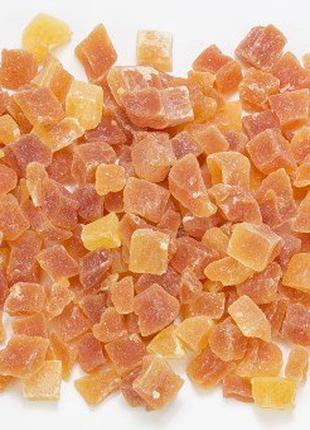 Цукати диня зі смаком маракуї/персика кубики 8-10 мм (Таїланд)