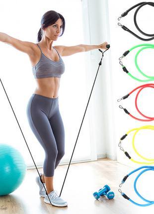 Набор трубчатых эспандеров (резинок) для фитнеса