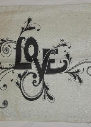 Наволочка на подушку любовь, романтика, день святого валентина