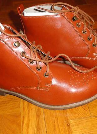 Ботинки женские новые кожанные 36 р. стелька 24 см. произв. ге...