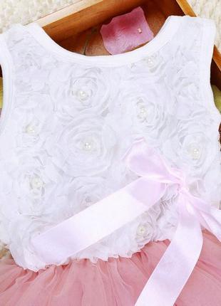 Платье фатиновая юбка пачка+ лепестки
