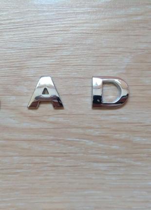 Металлические буквы LADA на кузов авто