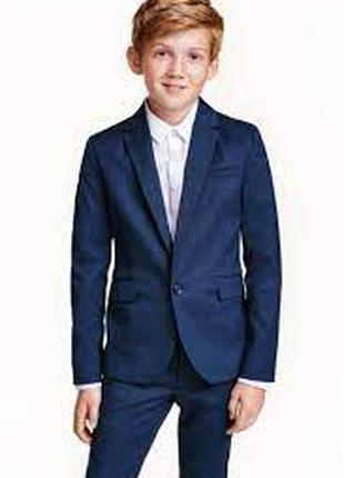 Стильный пиджак мальчику 10 - 11 лет блейзер h&m