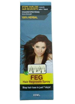 Спрей от выпадения и для роста волос FEG Hair Regrowth Spray 60мл