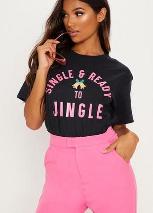 Ликвидация товара 🔥  футболка черная с розовым принтом