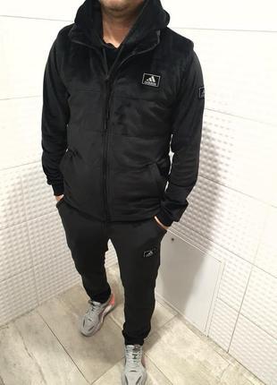 Мужской спортивный костюм тройка adidas